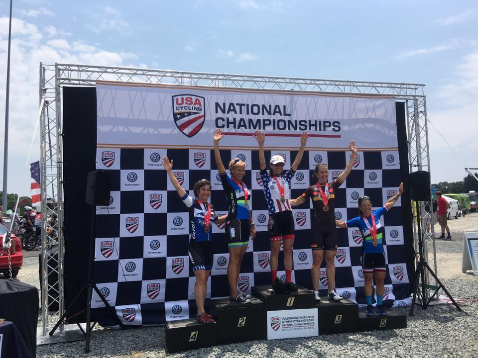 Women Masters 50+ Road Race Podium